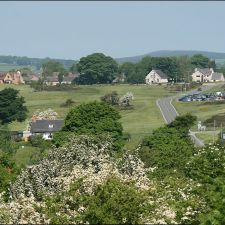 A view of the village from near Bryn Sannan Cottage