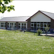 View from the back of Ysgol Brynffordd School