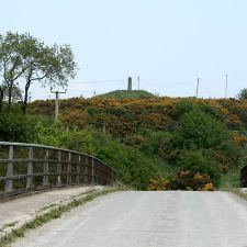 Pen-y-Ball Monument from bridge overA55
