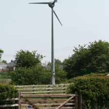 First Wind Turbine in Brynford
