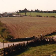 The original road to Holywell with the Llyn y Mawn in the background