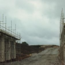 A55 bridge near The Llyn y Mawn under construction