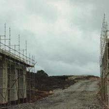 A55 bridge near The Llyn y Mawn under construction