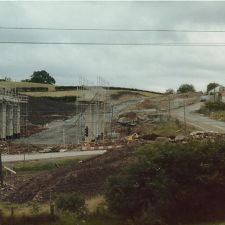 Another view of the bridge under construction