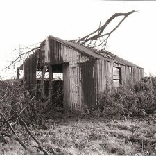 The gravedigger's hut just before it was finally demolished - St. Michael's Church Cemetery