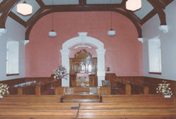 View from rear  of chapel