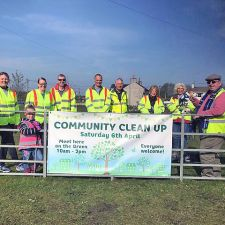 Volunteers on the Village Green - 6th April 2019